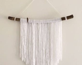 White Wool Wall Hanging