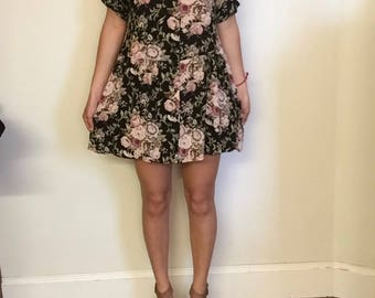 Floral Shoulder Cut Out Sundress