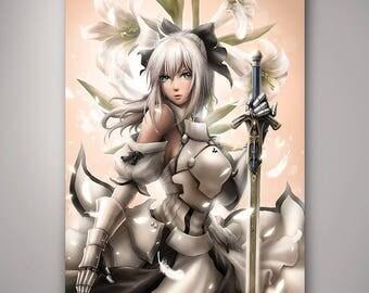 Fate - Saber Lily// Art Print// Illustration