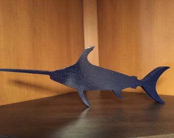 Wooden Swordfish Figure
