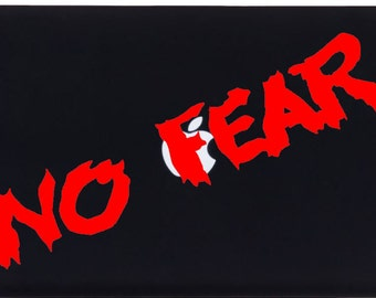 No Fear decal black for apple macbook laptop