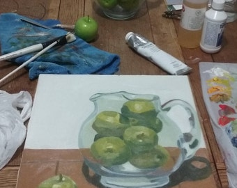Apples in Pitcher