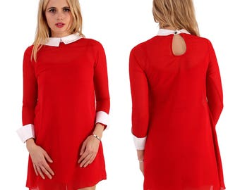 1960's red mod/retro/vintage style mini dress, new