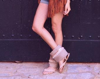 Boho Chic Sandals, Barefoot Sandals, Cubre Sandalias Boho , Boho Wedding