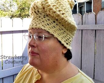 Unusual Gifts,  Unique Gift for Women,  Crochet Beanie Women,  Crochet Hat Womens Hat,  Cream Hat,  SWIRL Beanie Hat,  Swirl Hat