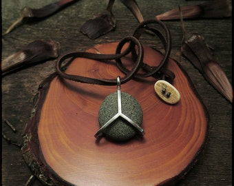 """N1519-Beachtone """"Peace"""" of Earth Necklace  -25% Discounted"""
