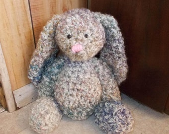 Crochet Floppy Eared Bunny, Bunny Lovie, Crochet Rabbit, Floppy Stuffed Animal, Easter Bunny Toy, Easter Basket Gift, Ready to Ship Last One