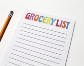 Grocery List Notepad - We...