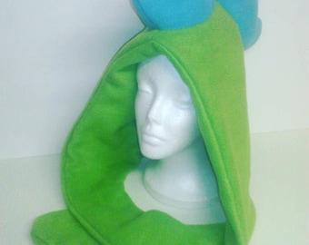 Dinosaur Fleece Hood