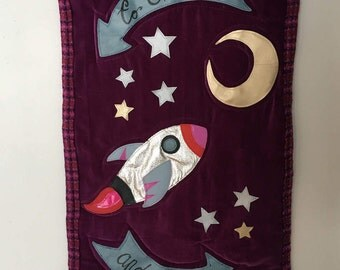 To the Moon and Back <3 Quilted Wall Hanging