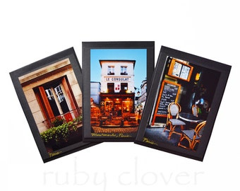 PARIS CAFE, Montmartre, French Card Set, Paris Greeting Cards, French Cafe, Handmade Photo Cards, Paris Souvenir Photo, Le Consulat, Balcony