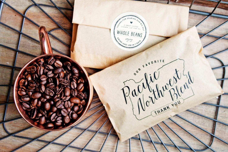 Wedding Favor Coffee Bag Pacific Northwest Blend Oregon