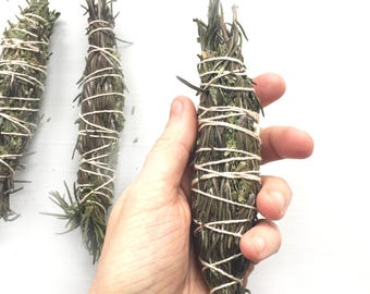 Guiding Spirit Cedar smudge stick//Rosemary Lavender Smudge//Space clearing//smudging//Housewarming gift//Gift for Yogi//Meditation kit