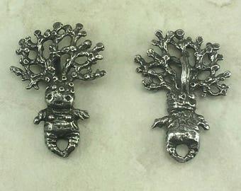 Mandrake Drop Green Girl Link Charm Pendant - Magic Plant Mandragora Harry Potter Garden - American Artist Made Lead Free Pewter Silver 540