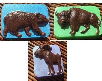Moose Buffalo Bear VEGAN Glycerine Soap