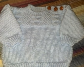 Guernsey Sweater in Baby Blue by Never Felt Better
