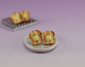 Buttered Toast - Studs / Post Earrings