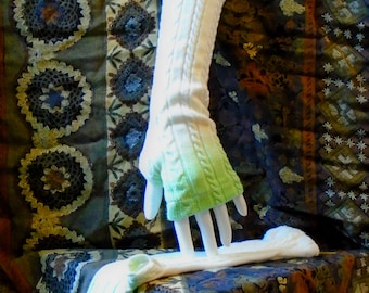 cable knit ombre stretch cotton fingerless gloves arm warmers boho chic texting gloves boho gloves mittens boho chic handmade upcycled