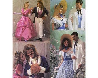 Simplicity 7971 Old South GWTW Beauty & Beast Costumes Adult Sizes ©1992