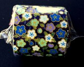 Japanese Fabric Tape - Dark Blue Tape - Flower Fabric Tape - Plum Blossoms