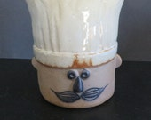 Le Chef Takahashi San Francisco Hand Painted utensil holder Vintage 1970s