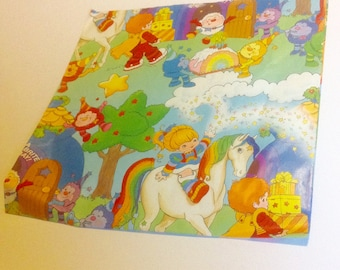 Vintage Rainbow Brite Wrapping Paper