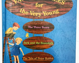 Favorite Tales for the Very Young Vintage Book 1960's The Three Bears Jack and the Beanstalk Tale of Peter Rabbit and 5 More