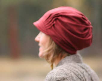 Slouch Hat - HEATHERED AUTUMN RED