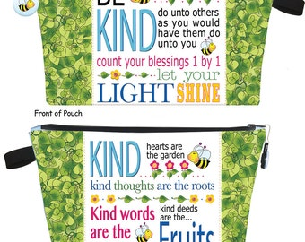 Kindness Zipper Pouch Kit - Printed Body