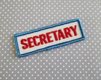 Vintage Secretary Patch
