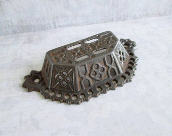 Vintage Cast Iron Ornate Victorian Bin Pull