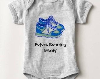 Future Running Buddy Baby Bodysuit Newborn Infant Boy Girl Shower Gift
