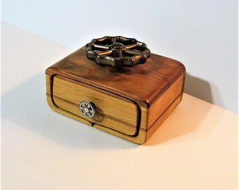 Locking Puzzle Box Made From Two Woods