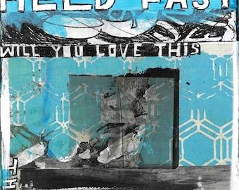 Held Fast, mixed media original art by Juliana Coles