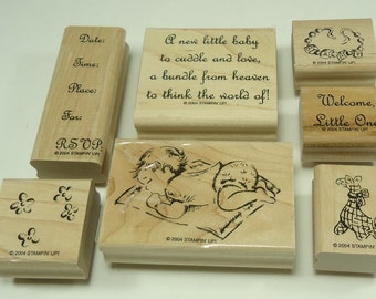 Welcome Little One Wood Mounted Rubber Stamp Set From Stampin Up