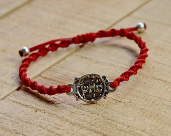 72 Names of God Hand Woven Red Charm Bracelet for Good Health, for Men and Women