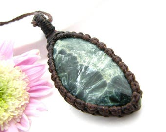 Seraphinite Necklace / Angel wing necklace / Angel jewelry / Angels / Yoga jewelry / Gift for special friend / Hippy / angel necklace /