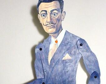 Salvador Dali Articulate Paper Doll - Paper Puppet - DIY Printable PDF - Surrealist