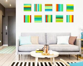 Colorful Wall Art | Wood Art | Geometric Wall Art | Wood Wall Sculpture | Modern Wall Decor | 3D Wall Art | Rosemary Pierce Modern Art