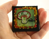 ORIGINAL HAND EMBROIDERED Mushroom Pin 003