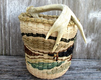 Contemporary Antler Basket by Marcia Whitt