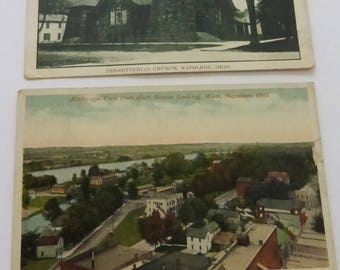 Vintage Pair of Post Cards from Napolean, Ohio