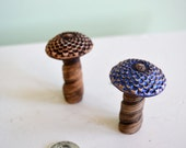 Fairy garden toadstool, miniature mushroom: cast marble stone