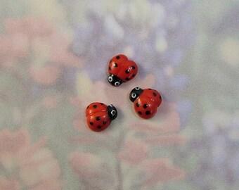 Lady Bug Embellishment set of 3