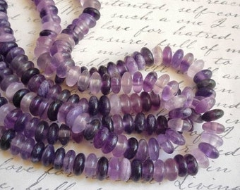 LARGE 2mm Hole Fluorite Rondelle Beads 10mm, Colorful Saucer Rondelle Beads