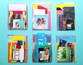 NEW! Contemporary Art Graphic Design - modern collage kit (1 medium set of scrapbooking / paper stock)