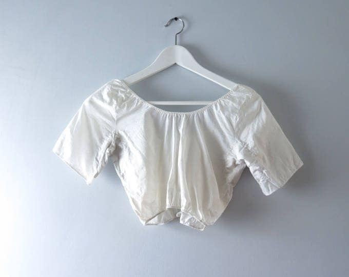 Vintage Camisole - 1950s White Camisole Under Blouse XS/S