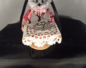 Mouse with a Silver Tea Set NEW LOWER PRICE