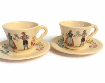Edwin M. Knowles china cup and saucer - 1938 - German or Swiss - Demitasse cups