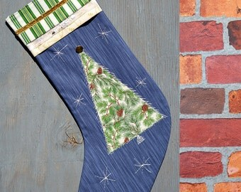 Christmas stocking - Personalized - Christmas tree - elegant - family gifts -  family traditions - contemporary designs